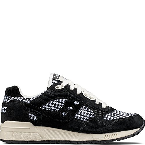 Shadow Ht Donna 5000 Suede Sneakers tessuto Houndstooth Nero Saucony tqd5xn1t