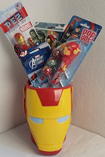 [Toddler Kids Christmas Holiday Gift Captain America Marvel Avengers Iron Man Hulk Basket Bundle Action Boys] (Captain America First Avenger Halloween Costume)