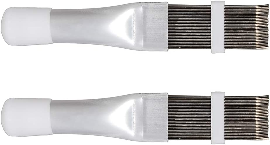 KingBra 2 PCS Stainless Steel Fin Comb,Condenser Comb,Air Conditioner Fin Cleaner Repair Tool,Air Conditioning Brush Warping Comb Accessories