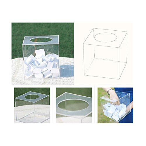 Transparent Lottery Box with Circular Entrance (17x17(cm))