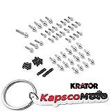 Krator 1999-2000 Honda CBR 600 F4 2001-2007 Honda CBR 600 F4i Billet Aluminum Spike Fairing Bolts Motorcycle Frame Bolts Sports Street Bike + KapscoMoto Keychain