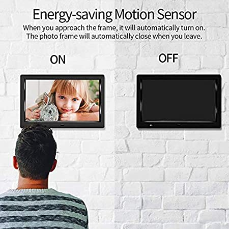 Dvluck HD 1080P LED Digital Photo Frame 10.1 Inch Movie Player Video Remote Control