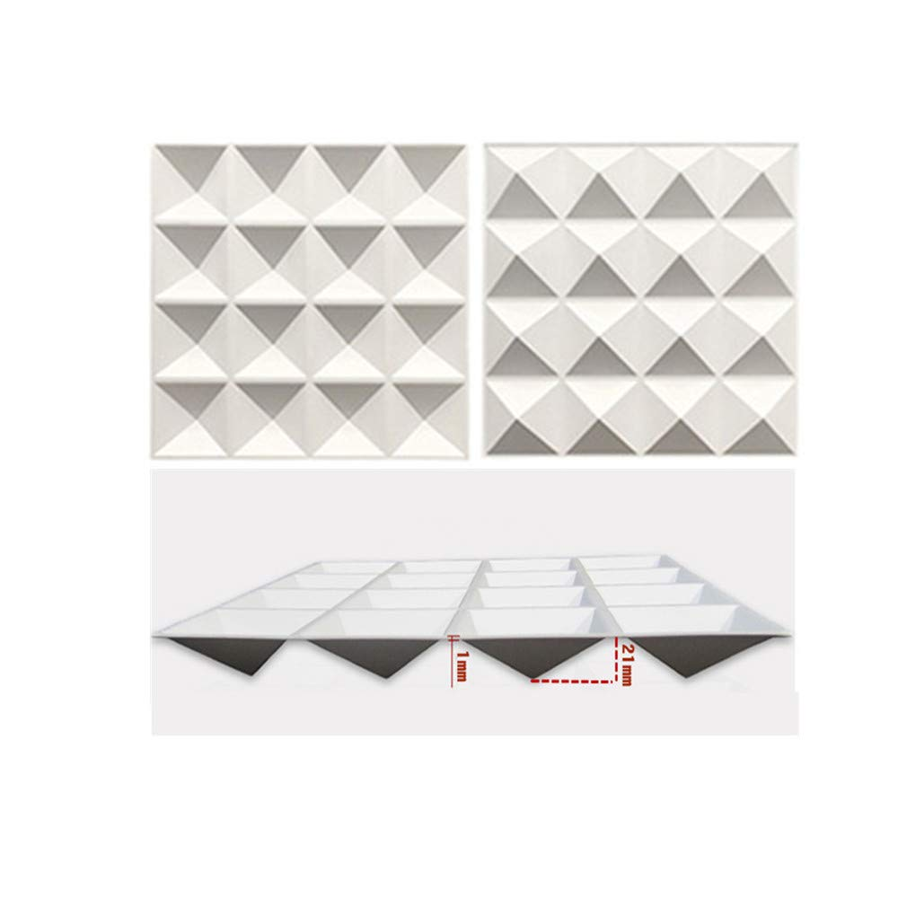 TroyStudio Acoustic Sound Diffuser Panel - Multiple Colors, 12'' X 12'' X 1'', PACK of 4 (White) by TroyStudio (Image #2)