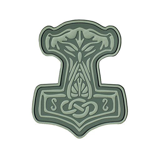 Viking Patch (Mjolnir Viking 3D PVC Morale patches Military & Tactical Army Morale Patch Velcro (Olive))