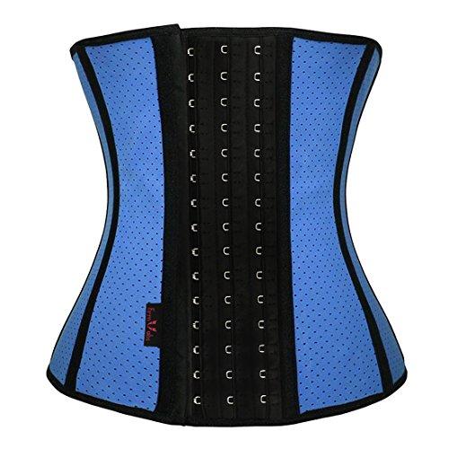 Waist Training Corset Body Shaper (Blue) - 7
