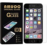 iPhone 6s Screen Protector, 2 PACK Amuoc Tempered Glass Premium High Definition Shockproof Clear Screen Protector for iPhone 6 6s