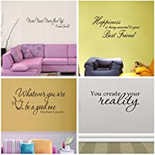 4 Set Motivational Vinyl Wall Sticker Removable Office Home Girl Room Decor Quotes Inspirational ( best friend , never give up )