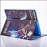 Apple iPad Air 2 (iPad 6) Folio Avengers Case / Protective PU Leather Smart Flip Cover / iCHOOSE / Divided Shield