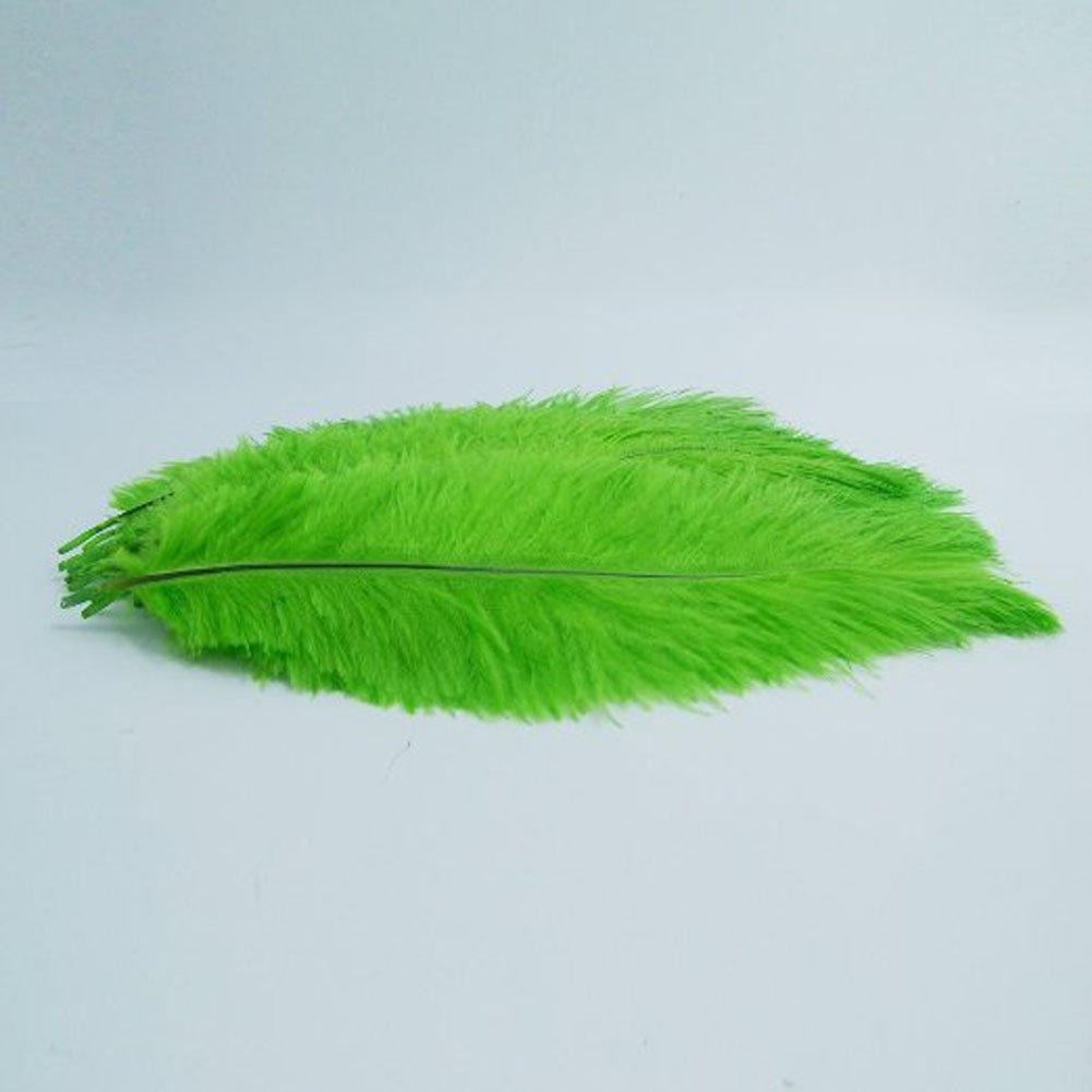 KOLIGHT®100pcs Ostrich Feather Green 10''-12'' Natural Feathers Wedding, Party ,Home ,Hairs Decoration