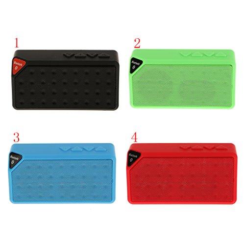 Altavoz Inalámbrico Bluetooth Estéreo Impermeablepara Teléfono Móvil Tableta PC Portátil - Rojo Rojo