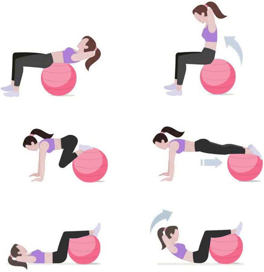 Best Goods Ballon de gymnastique /épais et anti-/éclatement avec pompe /à ballon ballon de fitness ballon de yoga petit appareil et chaise d/équilibre pour la salle de gym le bureau