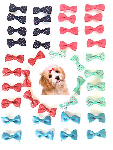Pet Dog French Barrette Hair Bows Clips Puppy Grooming Hair Accessories Pack of 20