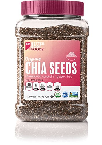 BetterBody Foods Organic Chia Seeds, Non-GMO, Great Taste, 2 Pound (Body Herbal Thickener)