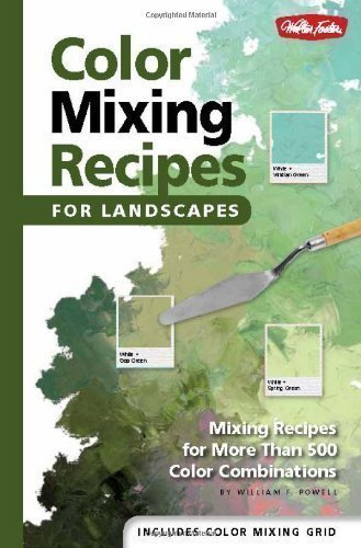 Color Mixing Recipes for Landscapes: Mixing recipes for more than 400 color combinations by Powell, William F. Spi Edition (2012)