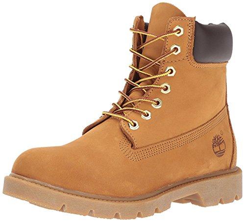 Timberland Mens 6 Basic Contrast Collar Boot, Wheat Nubuck, 41 D(M) EU/7 D(M) UK