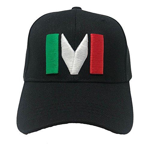 GREAT CAP Mexico Constructed Baseball Cap Classic Mexico Flag Color Design Adjustable Hat Daily Fashionable Futbol Cap - M Black - Mexico Hat Cap