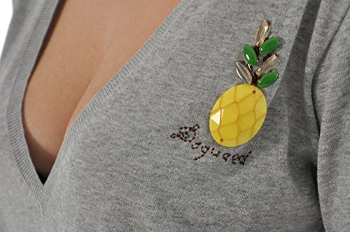Dsquared2 Women's Long T-SHIRT Ananas Grey - size S/M
