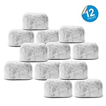Pack of 12 Replacement Charcoal Water Filters for Cuisinart Coffee Machines By Housewares Solutions