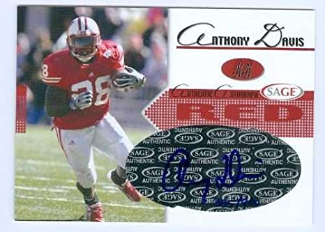 Anthony Davis Autographed Football Card College Football