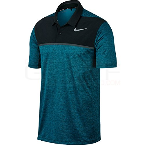 Tiger Woods Nike (NIKE Men's TW Dry Blocked Golf Polo Shirt Blustery 854268-467 (M))