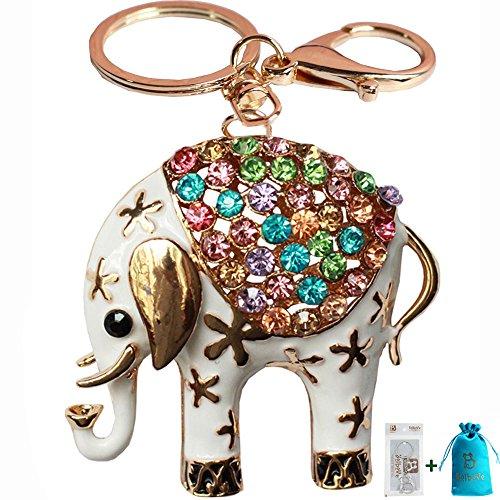 Bolbove Elephant Keychain Sparkling Rhinestones product image