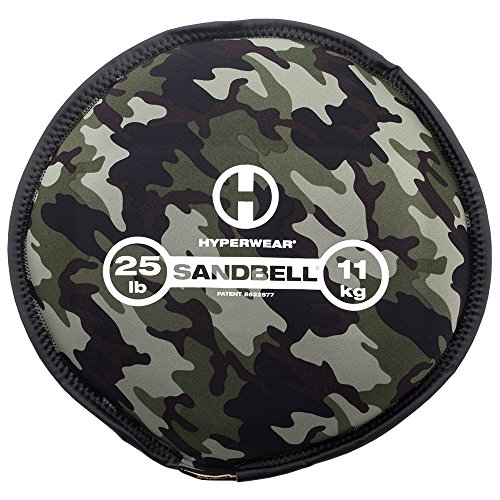 - Hyperwear SandBell Sandbag Training Free Weight (Pre-Filled), Camo, 25 lb