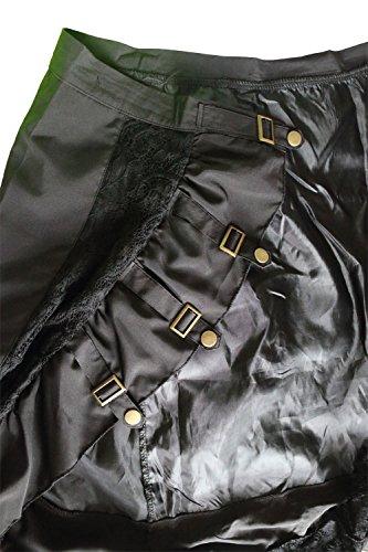 LADYA Women Lace Steampunk Rock Gothic Black Skirt (extra extra large, black)