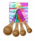 Talisman Designs VIVID Colors Solid Beechwood Measuring Spoons