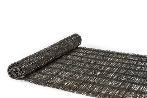 Bamboo Throw Woven (Natural Table Runner: 100% Natural Hand Woven Decorative Cover For Dinner And Coffee Table, Eco-Friendly Materials, Elegant Style, Wooden Rustic Design, Natural Grass Bamboo(Dark Brown Thin, 14x108))