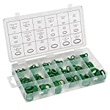 OCGIG 270 Pcs 18 Sizes Green Rubber O-Ring Sealing Gasket Washer Seal Assortment Set for Plumbing,Automotive,General Repair with Case