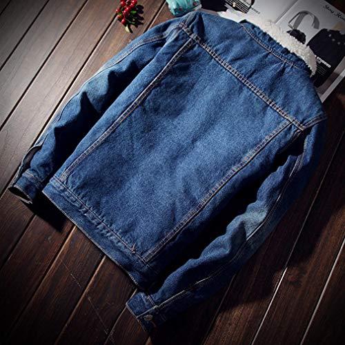 Blu Casual Moda Di Jeans Cowboy Da Alla Scuro Plus Uomo Giacca Cappotti Velluto X1wPqfq