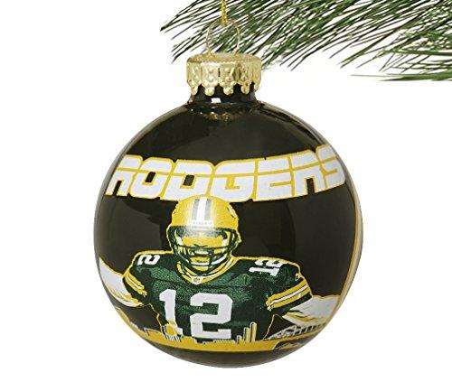NFL Player Skyline Glass Ball Christmas Ornament