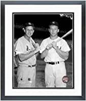 "Stan Musial (St. Louis Cardinals) Mickey Mantle (NY Yankees) 1960 MLB All Star Game Photo 12.5"" x 15.5"" Framed"