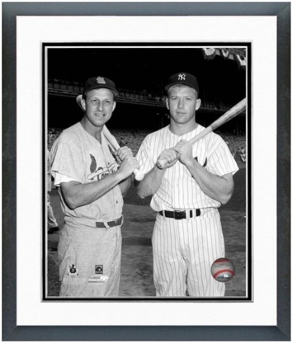Stan Musial St Louis Cardinals - Stan Musial (St. Louis Cardinals) Mickey Mantle (NY Yankees) 1960 MLB All Star Game Photo 12.5