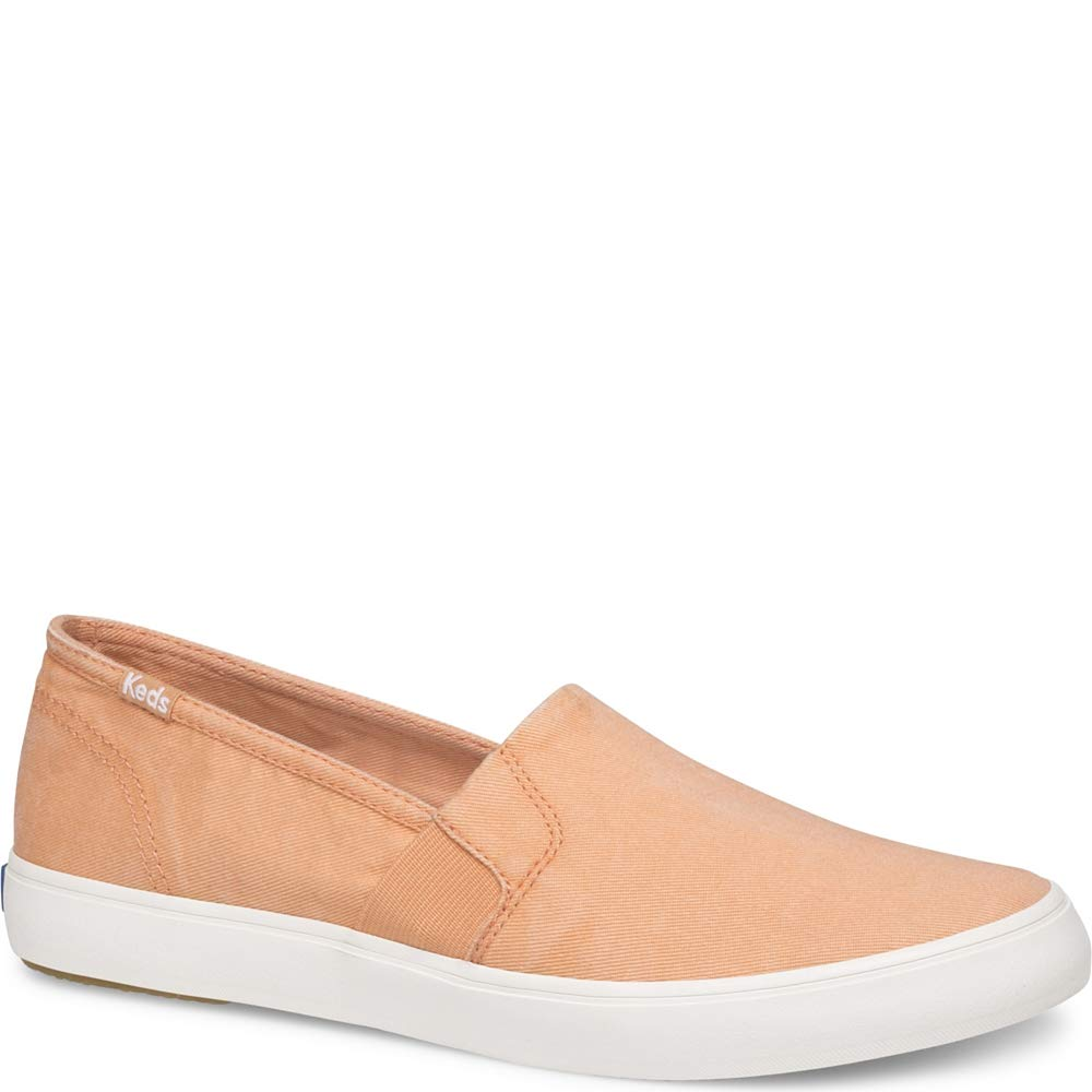 Keds Women's Clipper Washed Solids Sneaker, Coral, 6.5