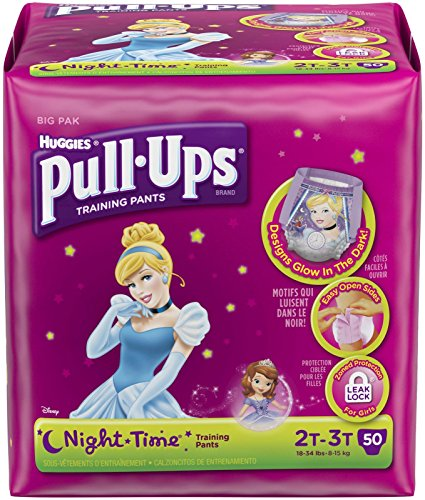 Huggies Pull-Ups Training Pants Night*Time - Girls - 2T-3T - 50 ct