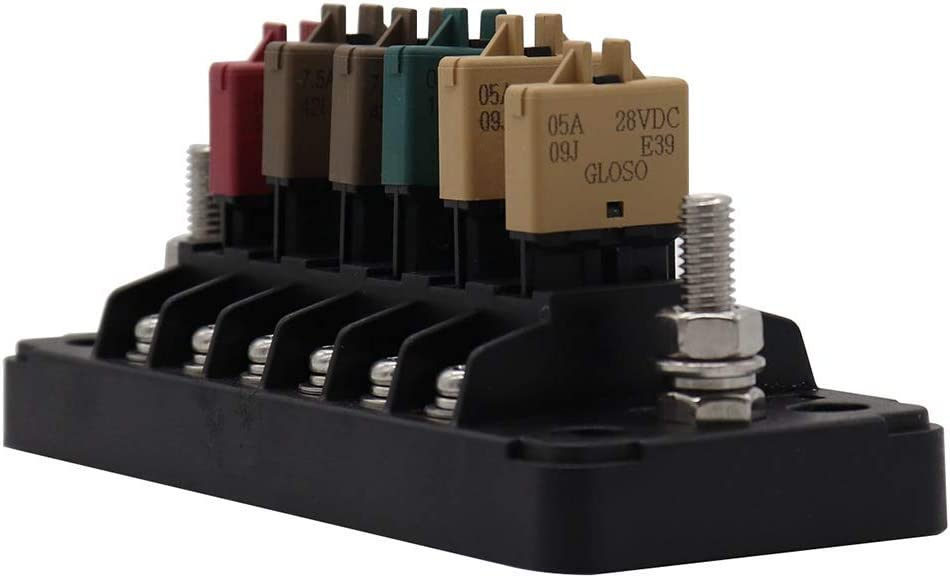 [DIAGRAM_3NM]  Amazon.com: Nologo YGY-YGY High-end 6 Way Circuit Fuse Block Fuse Box  Support Current Max 20A Total Current Max 75A Resettable Circuit Breaker  Fuse Circuit Breaker: Home & Kitchen | 20a Breaker Fuse Box |  | Amazon.com