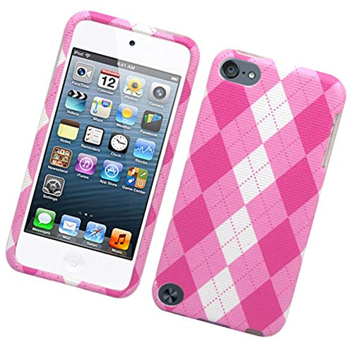 - Insten Argyle Hard Snap-in Case Cover Compatible with Apple iPod Touch 5th Gen, Pink/White