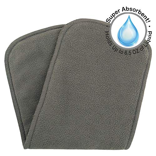 "Bluesnail Absorbent and Soft Cloth Diaper Liner, Washable Charcoal Bamboo Reusable Inserts (S,13""X5"", Black)"
