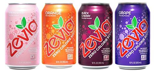 Zevia Zero Calorie Soda, Fruity Variety Pack, N...