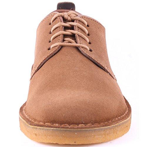Clarks - Zapatillas de Ante para hombre Marrón - Cola Suede