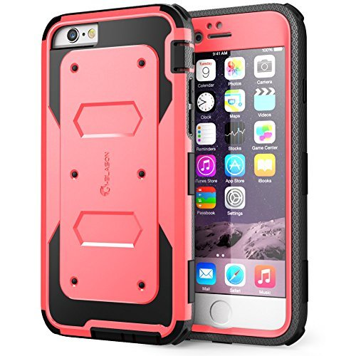 iPhone 6 Plus Case , i-Blason [Armorbox] built-in Screen ProtectorFull body [Heavy Duty] Protection Shock Absorb Bumper Corner for Apple iPhone 6 Plus 5.5 inch (Pink)