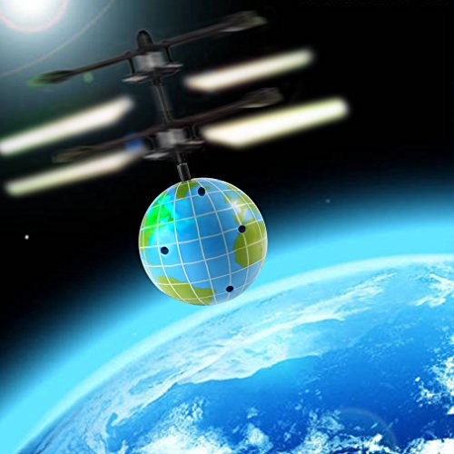 RC Flying Ball OCDAY Hand Infrared Induction Helicopter Ball Toy with Globe Painted LED for Kids