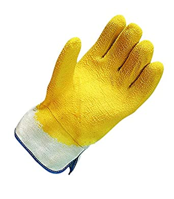 San Jamar 1000 Rubber Oyster Shucking Glove with Cotton Lining (Pack of 2)