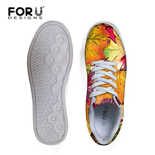 For U Design Tilfeldige Menns Graffiti Malow Toppen Komfortabel Skateboard Sko Lisse-up Sneaker Later En