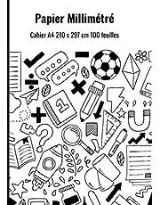 Papier Millimétré: Cahier A4 210 x 297 cm 100 feuilles