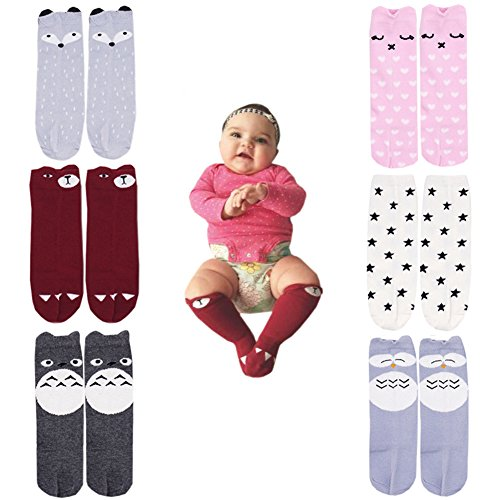 October Elf Unisex Baby Knee High Stockings Tube Socks 6 Pairs (S(0-1 Year), 6)]()