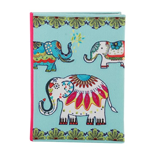 Classic fabric cover notebook journal diary college ruled story writing in paper for men women & girls with bookmark enclosed perfect for travel (8.5 in x 6 in) ()