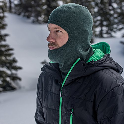 Minus33 Merino Wool Clothing Unisex Midweight Wool Balaclava, Forest Green, One Size by Minus33 Merino Wool (Image #6)
