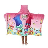 Dreamworks Trolls Girl's Hooded Towel Wrap 24'' x 50'' Cute Kid's Towel with Hood
